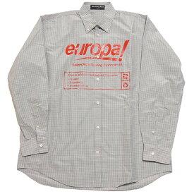 【中古】BALENCIAGA 2018SS Europa チェックシャツ グレー×レッド サイズ:39 【200220】(バレンシアガ)