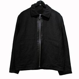【中古】Berluti18SS レザー切替ジップアップジャケット ブラック サイズ:A46 【7月6日見直し】