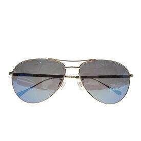 【中古】OLIVER PEOPLES ティアドロップサングラス Salford ブラック×ブルー サイズ:61□14-140 【250220】(オリバーピープルズ)