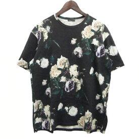 【中古】LAD MUSICIAN 17SS ローズ柄ビッグTシャツ ブラック サイズ:42 【110320】(ラッドミュージシャン)