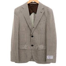 【中古】EDIFICE 18SS シェパードチェックジャケット 段返り3Bジャケット グレー系/オフホワイト サイズ:42 【130320】(エディフィス)
