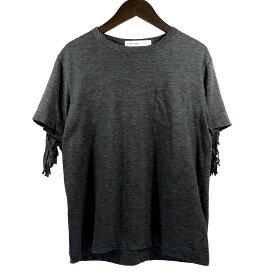 【中古】sacai ブロックフリンジTシャツ グレー サイズ:1 【200320】(サカイ)