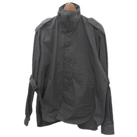 【中古】JOHN LAWRENCE SULLIVAN20SS 「POPLIN COTTON BONDAGE SHIRT」ポプリンコットンシャツ ブラック サイズ:44 【6月1日見直し】