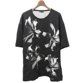【中古】LAD MUSICIAN 2018SS 「BIG T-SHIRT」リリィプリントビッグTシャツ ブラック サイズ:42 【240320】(ラッドミュージシャン)