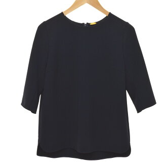 MUSE de Deuxieme Classe 16SS seven minutes sleeve cut-and-sew navy size: F (ドゥーズィエムクラス)