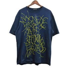 【中古】LAD MUSICIAN 「PERMANENT ROCKER PRINT BIG T-SHIRT」プリントTシャツ ネイビー サイズ:44 【040420】(ラッドミュージシャン)