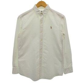 【中古】POLO RALPH LAUREN オックスフォードボタンダウンシャツ ホワイト サイズ:160cm 【270420】(ポロラルフローレン)