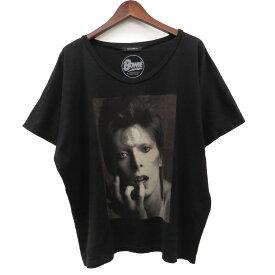 【中古】HYSTERICS David Bowie プリントビッグTシャツ 0513CT05 ブラック サイズ:FREE 【280420】(ヒステリックス)