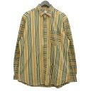 【中古】BURBERRY パッチワークチェックシャツ ベージュ サイズ:L 【010520】(バーバリー)