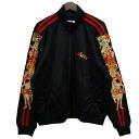 【中古】doublet 18AW「CHAOS EMBROIDEY TRACK JACKET」カオストラックジャケット ブラック サイズ:S 【020520】(…