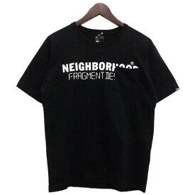 【中古】NEIGHBOR HOOD × FRAGMENT design ZOZOTOWN限定 胸ポケットTシャツ ブラック サイズ:1 【020520】(ネイバーフッド フラグメントデザイン)