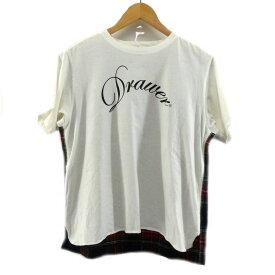 【中古】DRAWER切替Tシャツ ホワイト サイズ:2 【6月1日見直し】