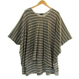 【中古】LAD MUSICIAN オーバーサイズTシャツ ボーダー グレー サイズ:42 【210520】(ラッドミュージシャン)