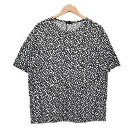 【中古】LAD MUSICIAN 総柄Tシャツ BIG T-SHIRT 2317-708 ブラック・ピンク サイズ:44 【240520】(ラッドミュージシャン)