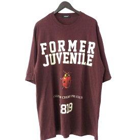 【中古】UNDER COVER 18AW「FORMER JUVENILE」ビッグTシャツ エンジ サイズ:Free 【250520】(アンダーカバー)