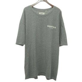 【中古】FOG ESSENTIAL FEAR OF GOD フロントロゴTシャツ グレー サイズ:L 【030620】(エフオージーエッセンシャルフィアオブゴッド)