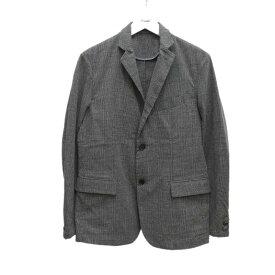 【中古】ROSSO 先染めグレンチェックジャケット グレー サイズ:M 【150620】(ロッソ)