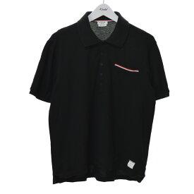 【中古】THOM BROWNE SS POCKET POLO IN FINE MERCERIZED PIQUE ポロシャツ ブラック サイズ:3 【210620】(トム・ブラウン)