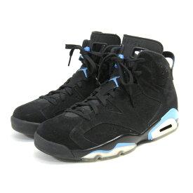 【中古】NIKE AIR JORDANAIR JORDAN 6 RETRO BLACK/UNIVERSITY BLUE スニーカー ブラック×ブルー サイズ:28cm 【7月6日見直し】
