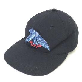 【中古】OFFWHITE 18SS 「EAGLE COTTON STRAPBACK CAP」 イーグル刺繍キャップ ブラック サイズ:OS 【240620】(オフホワイト)