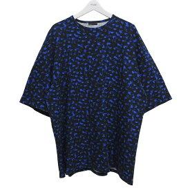 【中古】LAD MUSICIAN 2019SS SUPER BIG T-SHIRT オーバーサイズTシャツ ブラック×ブルー サイズ:FREE 【240620】(ラッドミュージシャン)