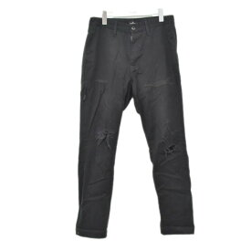 【中古】DENIM BY VANQUISH & FRAGMENT VFP4041 Remake Tapered Chino Pants リメイクテーパードチノパンツ ブラック サイズ:28 【010720】(デニムバイヴァンキッシュフラグメント)