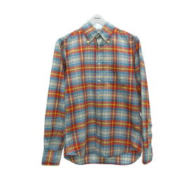 【中古】INDIVIDUALIZED SHIRTS チェックボタンダウンシャツ マルチカラー サイズ:14 1/2-32 【020720】(インディビジュアライズドシャツ)
