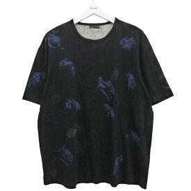 【中古】LAD MUSICIAN 18SSローズビッグTシャツ ブラック サイズ:42 【220720】(ラッドミュージシャン)