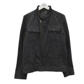 【中古】Roen バックスカルスタッズジップアップブルゾン ブラック サイズ:3 【020820】(ロエン)