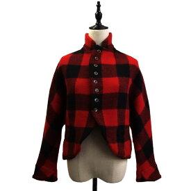 【中古】KAPITAL バッファローチェックドルマンジャケット レッド×ブラック サイズ:0 【050820】(キャピタル)