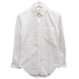 【中古】THOM BROWNE ボタンダウンシャツ ホワイト サイズ:1 【070820】(トム・ブラウン)