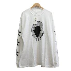 【中古】SASQUATCHfabrix. 20AW AMERICAN BISON L/S TEE Tシャツ ホワイト サイズ:XL 【150820】(サスクワァッチファブリックス)