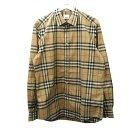 【中古】BURBERRY チェックコットンポプリンシャツ アーカイブベージュ サイズ:L 【170820】(バーバリー)
