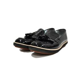 【中古】tricot COMME des GARCONS タッセルローファー ブラック サイズ:24.5cm 【240820】(トリココムデギャルソン)