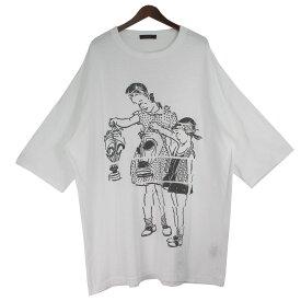 【10月19日見直し】【中古】UNDERCOVER20SS ガスマスクビッグTシャツ ホワイト サイズ:4
