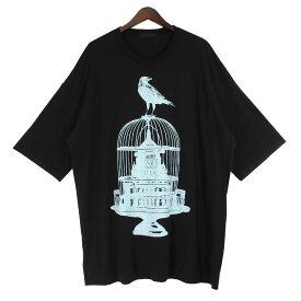 【中古】UNDERCOVER20SS 鳥カゴビッグTシャツ ブラック サイズ:FREE 【8月2日見直し】