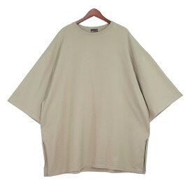 【中古】LAD MUSICIAN19SS スーパービッグTシャツ ベージュ 【9月28日見直し】