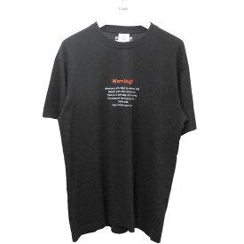 【中古】VETEMENTS 2019AW WarningプリントTシャツ ブラック サイズ:S 【160920】(ヴェトモン)