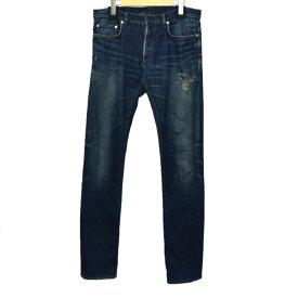 【中古】Dior Homme ダーリングクレイズマスクデニム 2011-12AW インディゴ サイズ:32 【180920】(ディオールオム)