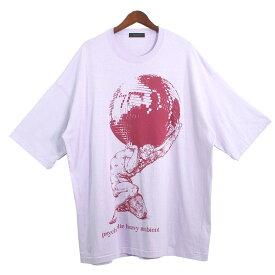 【中古】UNDERCOVER20SS プリントビッグTシャツ ラベンダー サイズ:F 【8月2日見直し】