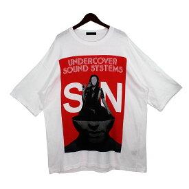 【中古】UNDERCOVER20SS SOUND SYSTEM SN ビッグTシャツ ホワイト サイズ:3 【8月2日見直し】