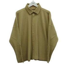 【中古】HOMME PLISSE ISSEY MIYAKE 19AW プリーツジャケット ベージュ サイズ:2 【210920】(オムプリッセ イッセイミヤケ)