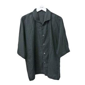 【中古】HOMME PLISSE ISSEY MIYAKE 2018AW 半袖オープンカラーシャツ ブラック サイズ:3 【210920】(オムプリッセイッセイミヤケ)