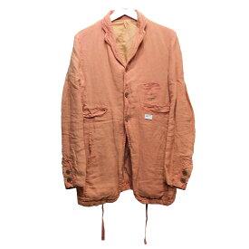 【中古】UNDERCOVERISM 11SS 染め加工リネン3ボタンジャケット ピンク サイズ:2 【220920】(アンダーカバーイズム)