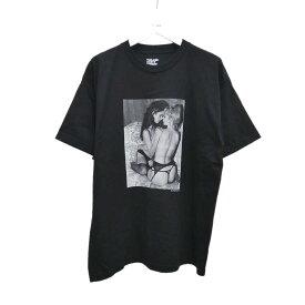 【中古】MINEDENIM フォトプリントTシャツ ブラック サイズ:XL 【250920】(マインデニム)