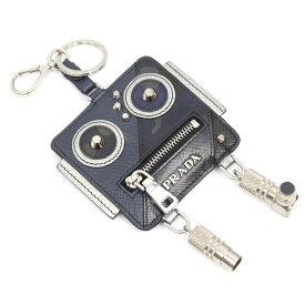 【中古】PRADA コインケースロボットキーホルダー ROBOT COIN CASE ブラック 【250920】(プラダ)