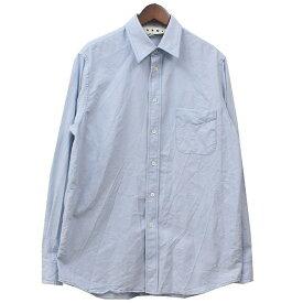【中古】MARNI 2020SS 裾ロゴ シャツ ブルー サイズ:46 【260920】(マルニ)