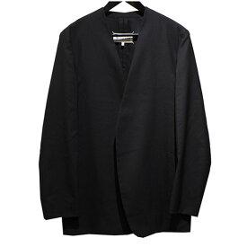 【中古】Martin Margiela 10 18SS ノーカラージャケット ブラック サイズ:46 【270920】(マルタンマルジェラ 10)