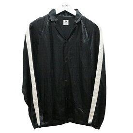 【中古】SASQUATCHfabrix. ノッチドカラーサテンシャツ18SS ブラック サイズ:S 【290920】(サスクワァッチファブリックス.)