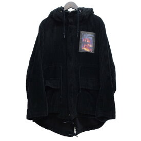 【中古】CHRISTIAN DADA18AW 「Wide Wale Corduroy Mods Coat」 コーデュロイモッズコート ブラック サイズ:48 【11月20日見直し】